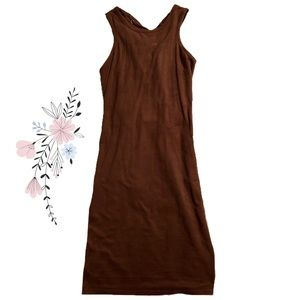 Dresses & Skirts - Suede Bodycon Dress